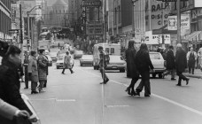 Dec. 10, 1970: Each of these jaywalkers could have been fined $1 if a 1932 ordinance was enforced. (Pittsburgh Press photo)