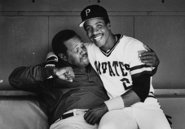 June 21, 1987: Willie Stargell was good friends with Bobby Bonds, father of Barry. (John Kaplan/Pittsburgh Press)