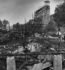 Sept. 3, 1980: A Sunday night fire leveled much of what remained of Big Dips roller coaster. (Credit: Kent Badger/The Pittsburgh Press)