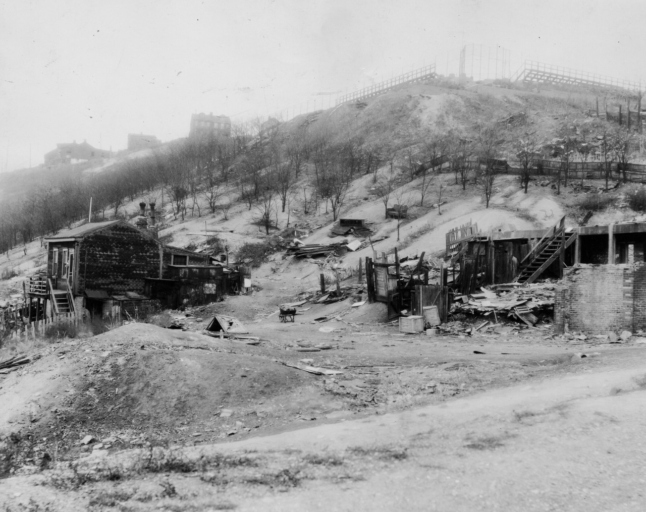 Late 1930s; Bedford Dwellings site under construction (Credit: Isaacs and Walsh, Inc.)