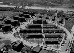 Dec. 28, 1956: Overhead view of the Bedford Dwellings. (Credit: Unknown)