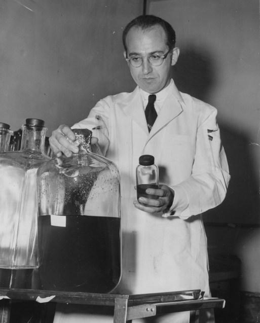 May 23, 1955: Dr. Jonas Salk. (Credit: Unknown)