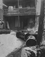 Feb. 21, 1963: The aftermath of a Hill District moonshine raid. (Pittsburgh Post-Gazette)