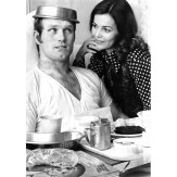 Bradshaw clowned with first wife Melissa in 1972. (Pittsburgh Press photo)