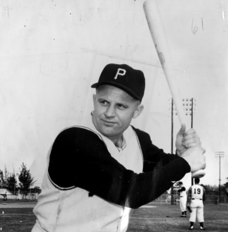 Feb. 21, 1959: Burgess at spring training, his grip on display. (The Pittsburgh Press)