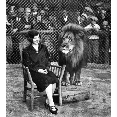 In 1909, Gordon encountered Numa, one of seven lions who performed at the Hippodrome. She wrote an account of her visit to the lion cage for The Pittsburgh Press. (Pittsburgh Press photo)