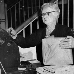 In 50 years of employment at Boggs & Buhl department store, Jewel Creedon, 72, never missed a day of work due to illness. This photo, dated Feb. 13, 1958, appeared in The Pittsburgh Press.