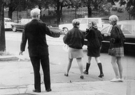 In 1968, Oliver Principal Frank Crowley tried to persuade wary students to attend classes. (Edward Frank/The Pittsburgh Press)