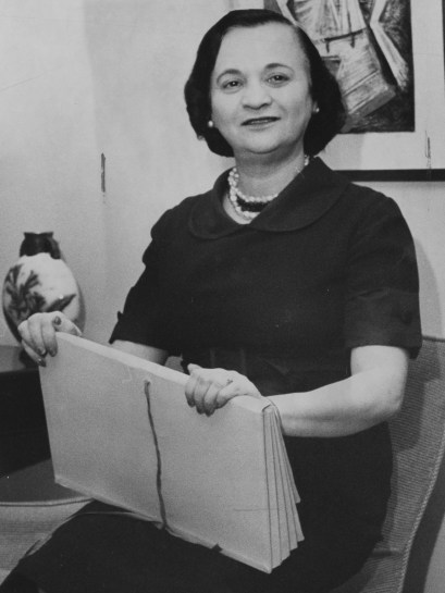 In December 1960, Anne X. Alpern is shown holding the agreement that allowed the public to view the art collection of Dr. Albert Barnes of Philadelphia. (Post-Gazette)