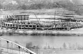 April 20, 1969: The structure begins to rise. (The Pittsburgh Press)