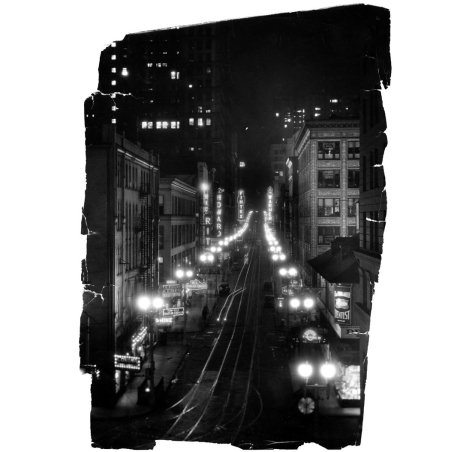 Fifth Avenue at night, circa 1935 . (Pittsburgh Press photo)