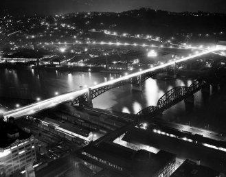 The Liberty Bridge, circa 1955. (Pittsburgh Press photo)
