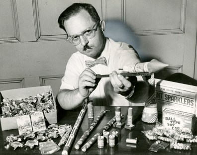 Emerson Venable: chemist, mustache aficionado, and impounder of illicit fireworks. (July 1, 1963.)