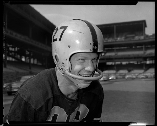 Rookie Dean Derby was a defensive back from Washington University. He played for the Steelers until 1961, when he was traded to the Minnesota Vikings.