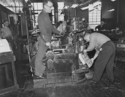 May 27, 1957: The stereotype department and plate machine inside The Pittsburgh Press office where the platemaking took place.