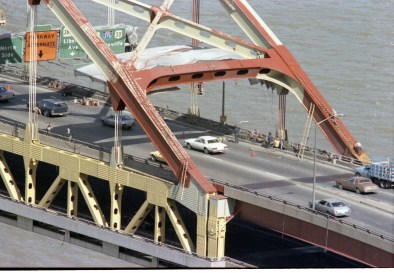 The Fort Pitt Bridge, 1981. (Post-Gazette photo)