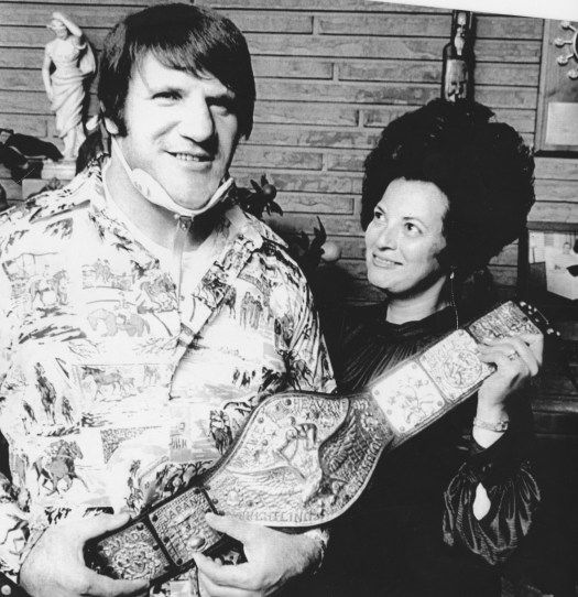 Bruno Sammartino and his wife, Carol. (Andy Starnes/The Pittsburgh Press)