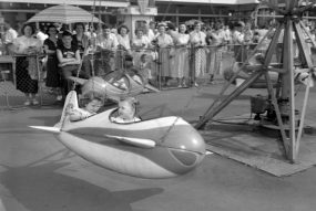 Kennywood added several rides to Kiddieland in the 1950s. (The Pittsburgh Press)