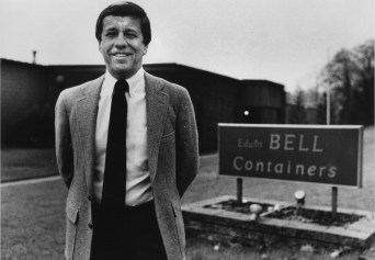 A year after his resignation from Pitt, Roy Chipman worked at Edwin Bell Container Co. in Bridgeville. (Melissa Farlow/The Pittsburgh Press)