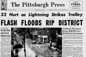 The front page of The Pittsburgh Press on May 5, 1950.