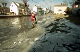 A combination of ice and flood water made life difficult.