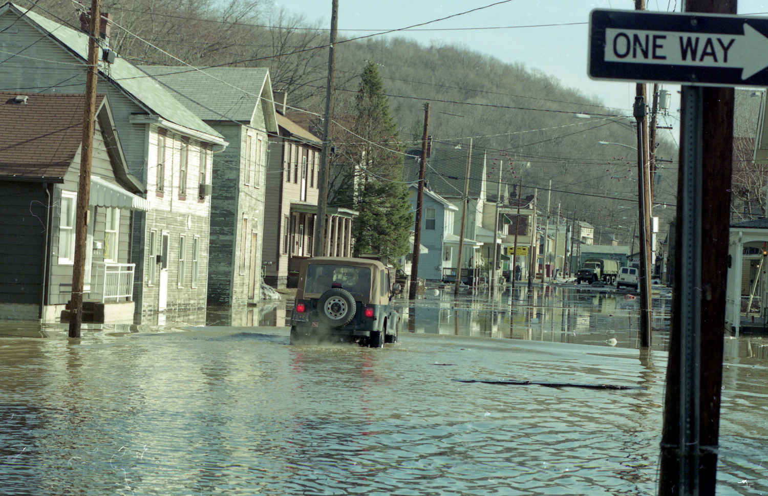 Waters flooded several streets in the Pittsburgh area.
