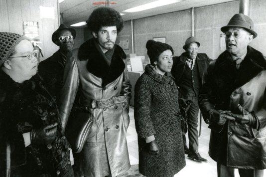 L-R: Sarah Trower, Tim Stevens, H. Turner, Robert Lavelle. Photo from Jan. 29, 1973 (Harry Coughanour)