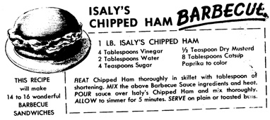 This is the recipe for Isaly's BBQ sauce, sent in by reader Judy Melvin of Oakmont.