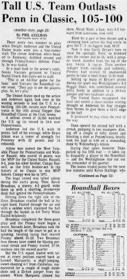 The U.S. beat Pennsylvania in the 14th annual Dapper Dan Roundball Classic.