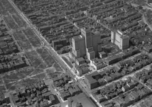 The North Side and Allegheny General Hospital. Image published May 8, 1949. (Stewart Love/The Pittsburgh Press)