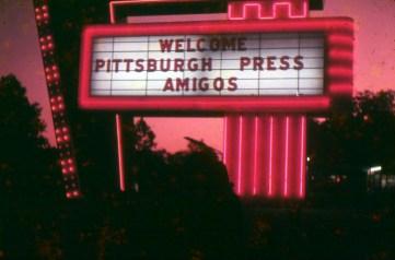 Welcome sign for Amigos (Photo courtesy of Fernando Balliache)