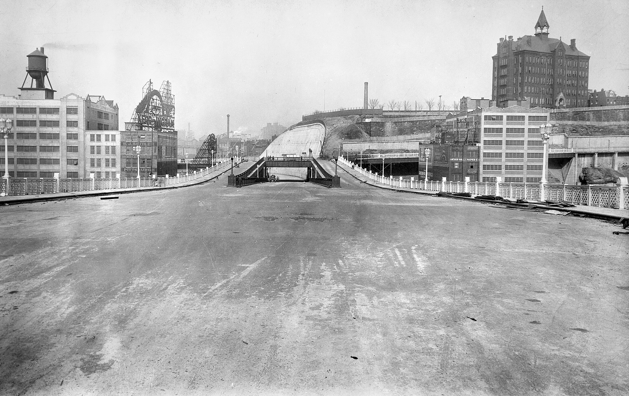 Liberty Bridge on March 12, 1928, a few weeks before it opened.