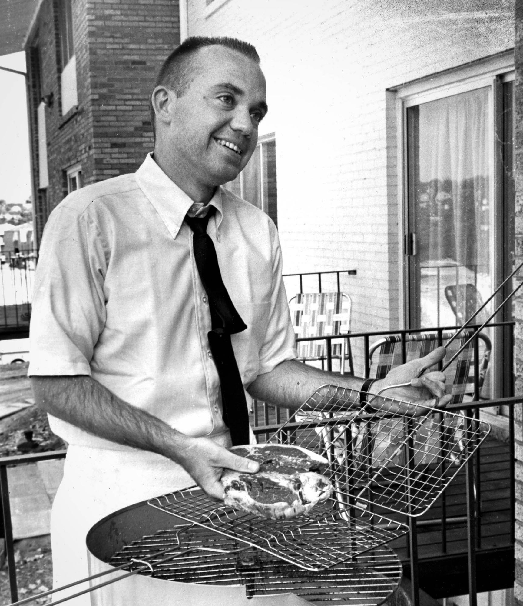 Dean Billick can cook if he must, but is looking for vivacious girl with brains. (Original caption for Aug. 4, 1968, Pittsburgh Press story.)