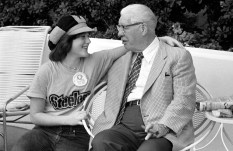Art Rooney with granddaughter Duffy, age 15. (Morris Berman/Post-Gazette)
