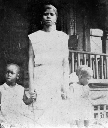 Aunt Rebecca Mason with young Josh Jr. and Helen, circa 1934. (Josh Gibson Foundation Collection, Rivers of Steel National Heritage Area)