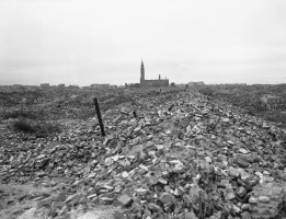 This is a view of the remains of the Warsaw ghetto, which the German SS dynamited to the ground in 1945 after slaughtering some 60,000 Jews. (Associated Press)