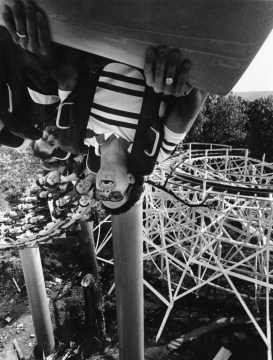 Riders get rolled over on the Steel Phantom in 1991.