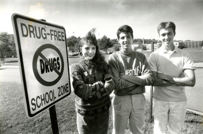 From 1989: Counseling peers at McKeesport High. (Andy Starnes/The Pittsburgh Press)