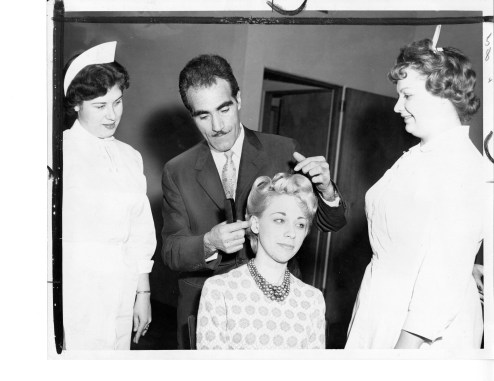 Franco Insana at a hair competition in New York City in 1962.