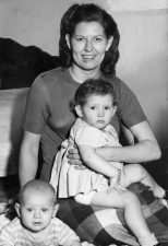 Mary Gagich with daughter Marlene and son John Jr. (Post-Gazette archive)