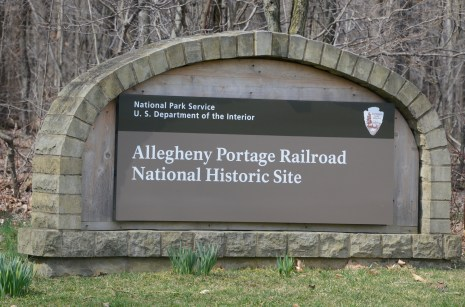 The entrance to the Allegheny Portage Railroad National Historic Site , near Route 22. (Darryl Sapp/Pittsburgh Post-Gazette)