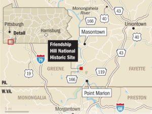 Location of Friendship Hill National Historic Site (James Hilston/Pittsburgh Post-Gazette)