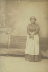 The image is of Mag Palm, a resident of Gettysburg, who fought off two men who attempted to kidnap her and sell her into slavery in South. The attack took place three years before the start of the Civil War.