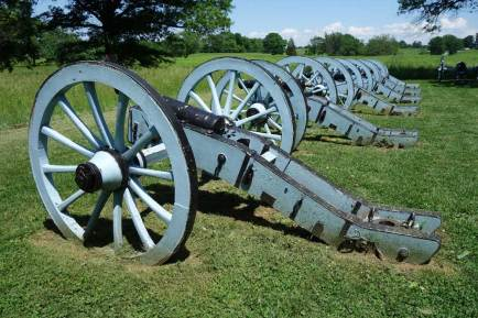 The artillery park at Valley Forge is where most of the canons were kept during the winter encampment. (Laura Legere / Post-Gazette)