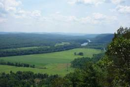 A view of the Delaware River from the Cliff Park section of the Delaware Water Gap National Recreation Area near the northern end of the 70,000-acre park.