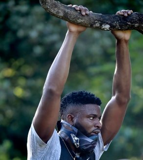 Pirates right fielder Gregory Polanco takes a break during his workout at the National Botanical Garden Tuesday, December 5, 2017 in Santo Domingo, Dominican Republic. (Matt Freed/Post-Gazette)
