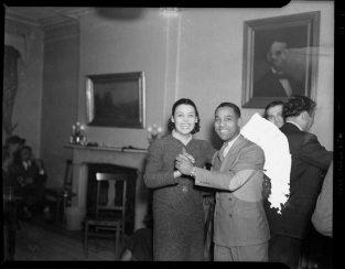 "Lena Horne dancing with Charles ""Teenie"" Harris in the Loendi Club in the Hill District in February 1938. ( © Carnegie Museum of Art, Charles ""Teenie"" Harris Archive )"