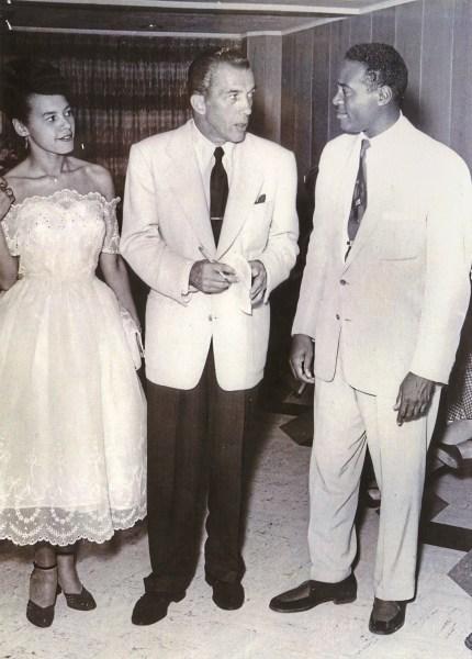 Rozell Reid Dougas, Ed Sullivan and Herb Douglas Jr. (Courtesy of Heinz History Center)
