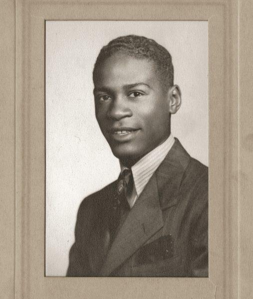 Herb Douglas's graduation portrait for Taylor Allderdice High School, 1940. (Courtesy of Heinz History Center)