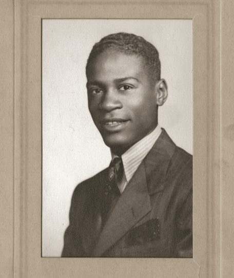 Herb Douglas's graduation portrait for Taylor Allderdice High School, 1940. (Courtesy of Heinz History Center)